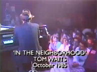 """In The Neighborhood"" Live on 'The Tube'"
